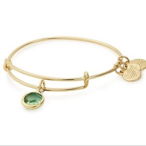 Alex and Ani Peridot Crystal Bracelet